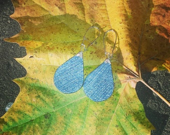 Denim Earrings- Denim Drop