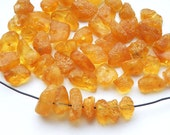 50pcs - Natural Baltic amber beads, honey amber, orange amber, amber small nugets  6-9 mm at widest part (#51)