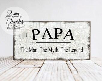 Grandpa sign etsy papa the man the myth the legend sign papa sign grandpa sign grandparent sciox Gallery