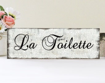 La Toilette Bathroom Sign, Bathroom Sign, Bathroom Wall Decor