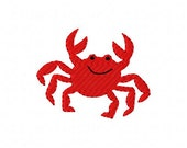 Crab Beach Summer Machine Embroidery Design Joyful Stitches