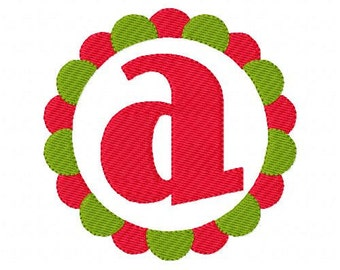 Christmas All Season Circle Embroidery Monogram Embroidery Font Design Set Joyful Stitches // Joyful Stitches