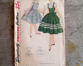 Vintage Simplicity Sewing Pattern 4265 Girl's Size 8 Dress