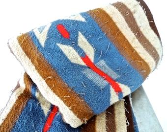 vintage southwestern blanket - 1960s-70s Biederlack woolly blanket
