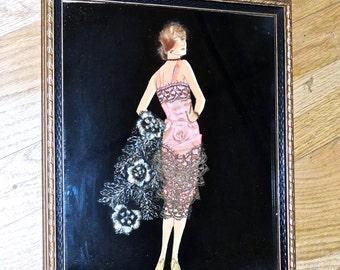 vintage framed fashion collage flapper
