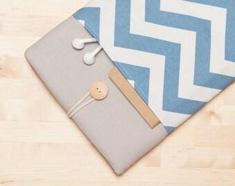 ipad mini 4 case / iPad sleeve / ipad mini cover/ iPad mini 2 3 4 - Blue chevron -