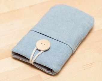 iPhone 6s sleeve / Galaxy S6 cover / Nexus 5x sleeve / faiphone case  / OnePlus 2 case - plain blue -