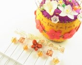 Decorative Sewing Pins Orange Butterfly