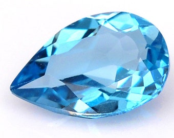 Pear Cut For 7.1*10.1mm 1.88 Ct. Graceful Natural Gemstone London Blue Topaz - Free shipping