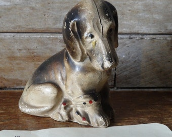 Vintage Hound or Basset Dog Shabby Chic Piece Lovely