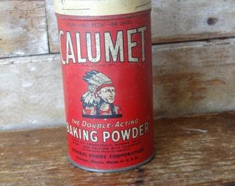 Vintage Culumet Baking Powder Kitchen Tin