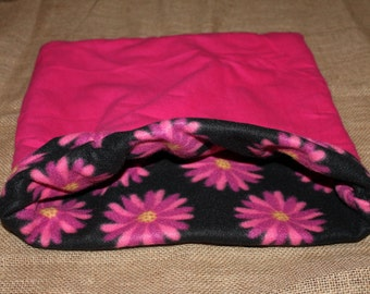 XLARGE Pink flower pouch for small pocket pets.
