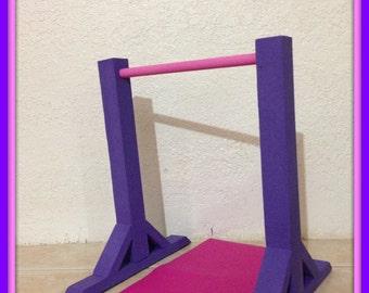 White Gymnastics Kip Horizontal Bar And Mat Set For By Crixina