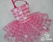 Toddler-Girls Poofy Tutu Dress Birthday Party-Birthday Girl in Hot Pink with 3-D Daisy Embellishment, sizes 12 and 18 month, 2T, 3T and 4