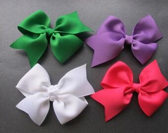4 inch Half  Pinwheel Bows--girls bows--you choose colors--toddler bows--baby bows