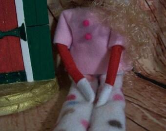 Christmas Elf Pants - Lt. Pink/Dot