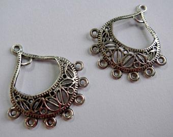Silver Chandelier Earring Components