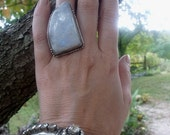 Vintage Silver and Moonstone Ring, offered by RusticGypsyCreations