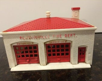 Vintage Plasticville Fire Department