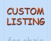 Custom Order fro Sharon :)