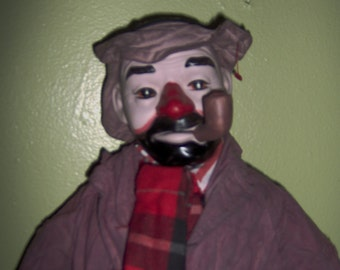 Vintage Porcelain Hobo Clown Large  Creepy
