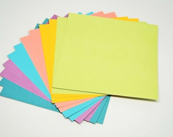 DESTASH Winter Cozy Colors Cardstock -- 6 x 6 inch -- High Quality Textured Cardstock  -- 12 Pieces