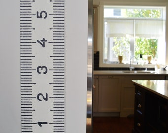 Two (2) Metric Growth Charts -- vintage-inspired giant tape measures | oversized height charts | moveable keepsake