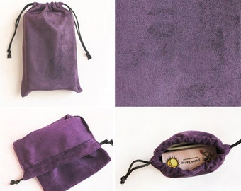 Suede jewelry pouch -10set