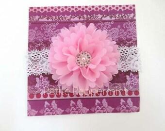 Pink Baby headband,baby girl headband,toddler headband,girl headband,newborn headband,flower girl headband