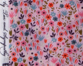 Beautiful Garden Girl pink floral Tea & Sympathy Studio E fabrics FQ or more
