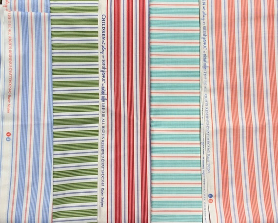 Children at Play Sarah Jane 5 FQ set Racing Stripes Michael Miller fabric