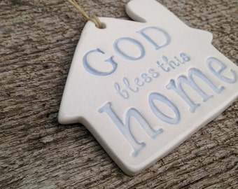 Housewarming Gift | Wedding Gift | Our First Home | Home Ornament | First Home Gift | God Bless this Home | New Home Gift | Blessing