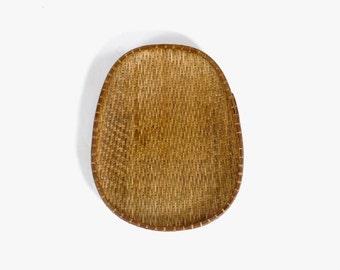 Rustic Boho Primitive Wicker Decorative Basket // Rice Sorting Basket