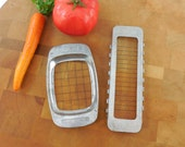 Presto Pair - Butter Stick Pat & French Fry Cutter Slicer Tools - Kitchen Utensil Aluminum Steel Wire