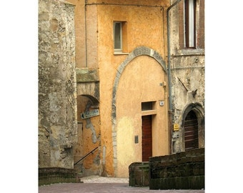 """Fine Art Color Architecture Photography of Italy - """"Spoleto Street"""" (Umbria)"""