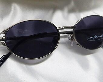 KOURE Col 2 VINTAGE Bamboo Style Oval Shaped STEAMPUNK Industrial Design Glasses - Brushed Gold Metal Frame Eyeglasses