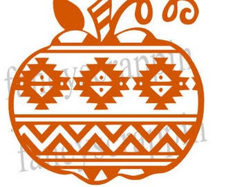 Aztec Pumpkin SVG Cutting File for TShirts, Wall Art, Etc.