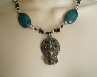 Buddha Necklace, buddha jewelry buddhist jewelry  buddhism jewelry boho bohemian hippie new age metaphysical zen necklace boho necklace