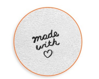Made with Heart-Metal Design Stamp--by Impressart-4mm-Steel Stamps-Metal Stamping Tool-Metal Supply Chick-sc158s4
