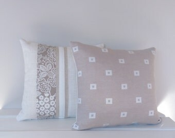Cushion Cover Beige and Cream
