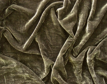 velvet fabric by the yard velvet fabric dark brownish grey fabric for craft - 1 yard - vlt024