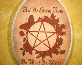 Wiccan Rede Wall Plaque