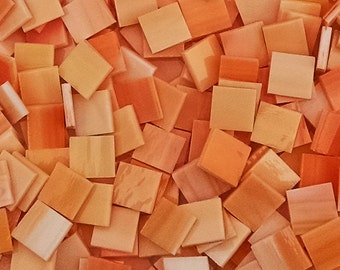 "100 1/2"" Peachy Pink Stained Glass Mosaic Tiles"
