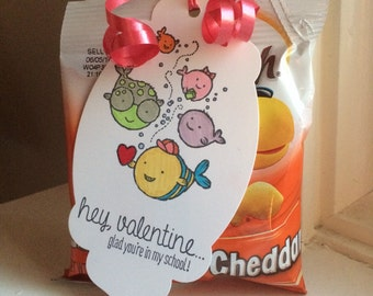 School of Fish Valentine Treat Gift Tag