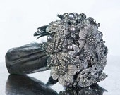 Gothic Bouquet - Alternative Bouquet - Broach Bouquet - Brooch Bouquet - Crystal Bouquet - Wedding Bouquet - Bridal Bouquet - Deposit