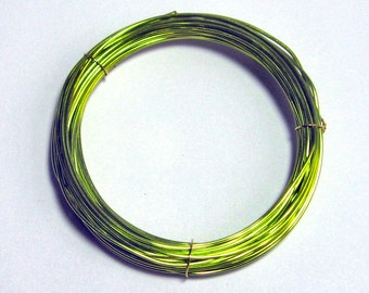 WIRE 24 gauge 25 ft. non tarnish round Sunny Meadows Green Inspire Wire