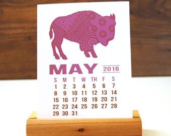 2016 Desk Calendar -  Wildlife