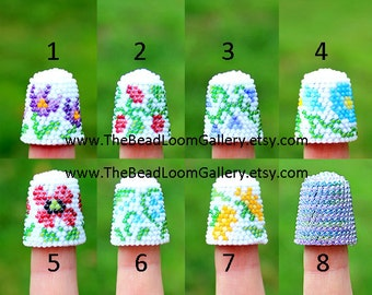 Made to Order - Pick One - Beaded Thimble - You Choose