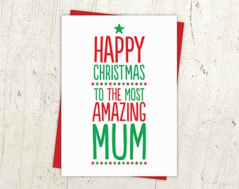 Most Amazing Mum Christmas Card
