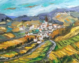 """View in Alsace 12x16"""""""